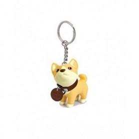 1pcs Anime Figure Dog Keychain Hand-painted Craft Dog Bull Terrier HUSKY Keychain PVC Vinyl Animal Figure Toy for Car Keychain,