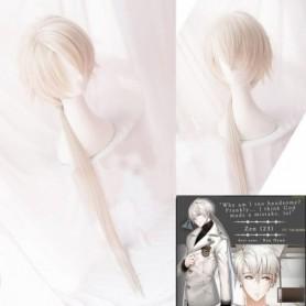 Mystic Messenger Cosplay Harajuku Curly Hair Wig 707 Yoosung Zen V Japanese Hair Costume Luciel Choi Zen Jumin Han Unise Wig, Ho