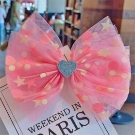 10pcs/lot Handmade Dot Mesh Hair Bows Soft Girls Heart Sweet Hair Clips Crown Princess Hairpin Barrettes Kids Hair Accessories