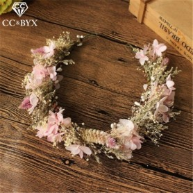 CC Wedding Jewelry Hairbands Tiaras And Crowns Garland Engagement Hair Accessories For Bride Sweet Yarn Flower Shape DIY mq031