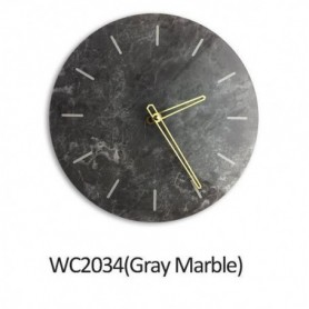 Nordic Marble Wall Clock Modern Minimalist Bedroom Art Clocks Personality Creative Living Room Fashion Wall Watch Home Decor
