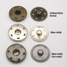 24sets Metal snap buttons 30mm big large metal brass sew on press button snap button fastener press stud buttons SF-023