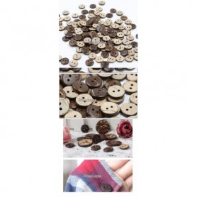 300pcs/lot 2 hole natural coconut buttons round sewing flatback brown colors 10mm/115/125mm/15mm free shipping COCO004