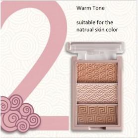 3 Colors Bronzer Highlighter pallete Brighten nude Highlight Powder glitter matte shimmer Face shading makeup Powder cosemtics,