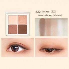 Flower 4 Color Eyeshadow Palette Matte Shimmer Glitter Sequins Portable Eyeahdow Long-lasting Waterproof Eye Makeup, Home