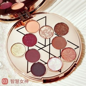 NEW 10 Colors All-purpose Makeup Playbook Matte Shimmer Glitter Eyeshadow with Highlight Contour Blush Eye Face Cosmetics Set, H