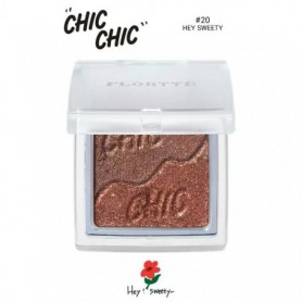 Eyeshadow Palette 2 Colors Chic Chic Series Glitter and Shimmer Matte Pigment Long-lasting and Waterptoof Eye Makeup