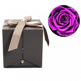 Flower Rose Eternelle Jewelry Box Girl Women Earrings Necklace Lipstick Makeup Storage For Wedding Birthday Valentines Day Gift