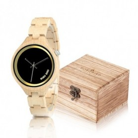 BOBO BIRD Elegant Women Watches Simple Dial Wooden Band Quartz wristwatch With Wooden Gift Box reloj mujer Accept Dropshipping,