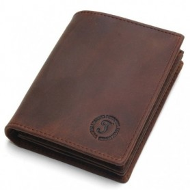 2020 Vintage Crazy Horse Handmade Leather Men Wallets Multi-Functional Cowhide Coin Purse Genuine Leather Wallet For Men, Home