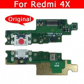 Original USB Charge Board For Xiaomi Redmi 4X Charging Port Socket Connector Mobile Phone Accessories Replacement Spare Parts, H
