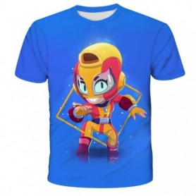Stars Clothes T Shirt For Boy Leon Spike Crow Surge Sandy Max El Primo Game Tshirt Tops Tees Kid Children Christmas Gift