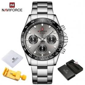 NAVIFORCE Top Brand Sports Quartz Watches Luxury Gold Stainless Steel Watch Male Waterproof Wrist Watch For Men Reloj Hombre, Ho