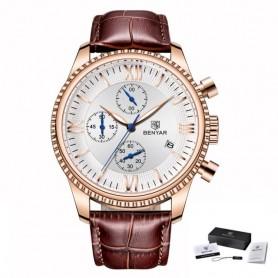 BENYAR Men's Watch Fashion/Sport/Quartz Watch Men Wristwatch Mens Clock Top Brand Luxury Leather Watches Men Relogio Masculino,