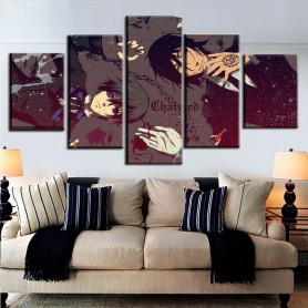 Canvas Art HD Print Painting Home Decorative Modular Framework 5 Panel Anime Black Butler Code Geass Poster Modern Artwork, Home