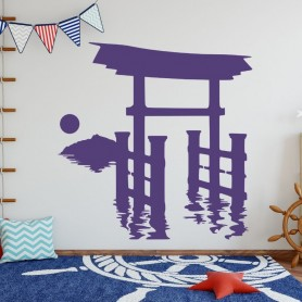 Japanese Torii Door Wall Decal Anime Sticker For Home Living Room Decoration Removable A002232, Home