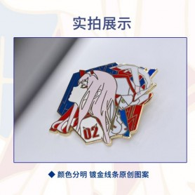DARLING in the FRANXX Zero Two Button Brooch Pins Anime Collection Metal Badge Medal Fashion Costume Souvenir Cosplay Gift, Home