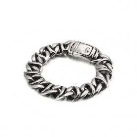 KALEN High Polished Arrow Shaped Bracelet Men 22cm Stainless Steel Bike Chain Bilezik Boho Male Jewellry Accessories, Home