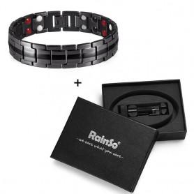 Rainso Fashion Jewelry Healing FIR Magnetic Titanium Bio Energy Bracelet For Men Blood Pressure Accessory Bracelets New Hot 2021