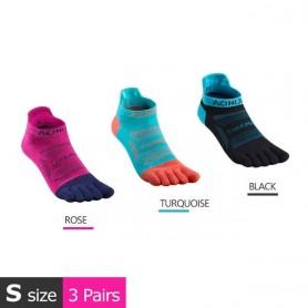 3 Pairs AONIJIE E4801 E4802 Ultra Run Low Cut Athletic Five Toe Socks Quarter Socks Toesocks For Running Marathon Race Trail, Ho