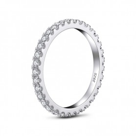 LESF Women Ring 925 Sterling Silver Simple Geometric Single Stackable Engagement Jewelry