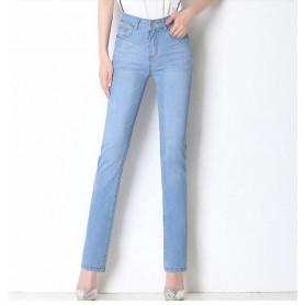 New Brand Luxury Pants Women High Waist Skinny Stretch Jeans Female Dark Blue Slim Fit Pants High Quality Trousers
