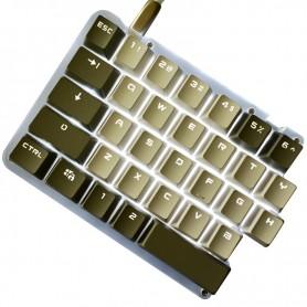 62 Keys Macro Split Mechanical Keyboard DIY Custom Programmable LED Background Electric Contest Games PC Laptop MAC WIN7 8 10, H