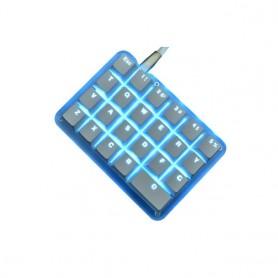 23 Keys Macro Keyboard DIY Custom Programmable RGB Backlight Mechanical Keypad Electric Contest Games PC Laptop MAC WIN7 8 10, H