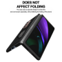 For Samsung Fold2 5G Case Luxury Carbon Fiber Texture Leather Stand Shockproof Back Cover for Samsung Galaxy Z Fold 2 Case