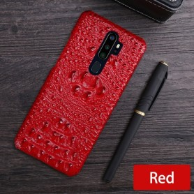 Leather Phone Case For OPPO Find X2 R15 R17 Reno Z 2 2Z 2F 3 4 Pro Ace 2 A5 A9 2020 A11X K3 K5 Cowhide Crocodile Head Back Cover