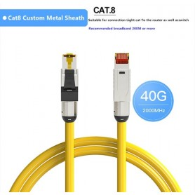 Ethernet Cable Cat8 RJ45 40Gbps Dual Shielded Super Speed Network 10 Meter Cat 8 Internet Cable Crimping Networking Patch Cord,
