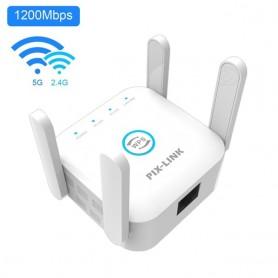 PIXLINK 5G WiFi Repeater WiFi Amplifier 5Ghz Long Range Extender 1200M Wireless Booster Home Wi-Fi Internet Signal Amplifier, Ho