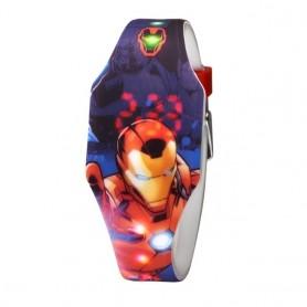 Marvel Avengers Young Men Digital Watches Silicone Band Shine Luminous Light Hours Children Student Clocks Iron Man Super Hero,