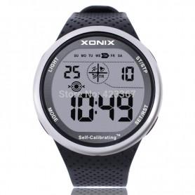 Mens Sports Watches Self Calibrating Digital Watch Waterproof 100m Multifunctional Swim Diver Outdoor Wristwatch, Home