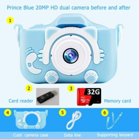 Children Kids Camera Digital Instant Video Cameras New Year Christmas Gifts Mini Educational Toys For Girls Boys Children Baby,
