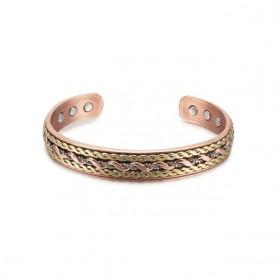 Vinterly Energy Magnetic Bracelet Copper Twisted Wide Bracelet for Women Adjustable Open Cuff Copper Bracelets & Bangles Men, Ho