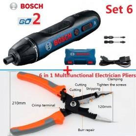 Original Bosch Go2 Electric Screwdriver Cordless Set USB Rechargeable Automatic Electric Screwdriver Torque Bosch Go 2, Home