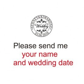 customize Retro Wax Seal Stamp logo bride groom couple double name and date Personalized image custom wedding wax sealing stamp,