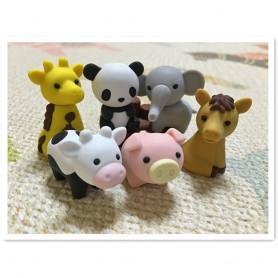12 PCS/Set Cute Kawaii Animal Zoo Eraser Rubber Eraser Set School Office Erase Supplies Kids Gifts, Home