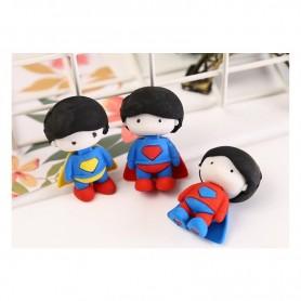 Cartoon Super Blue Cloak Eraser Superhero Children Gift Toy Student Pencil Writing Correction Supplies Office School Stationery,