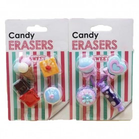 Girl Style Candy Rubber School Eraser for Party Gifts Bowknot Flower Pencil Eraser with Free Gifts for New Buyers, Home