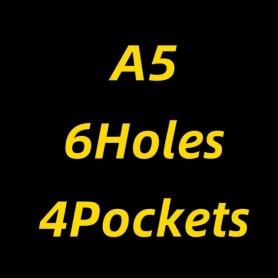10pcs A4/A5/A6/A7/B5/B6 Transparent Envelope Binder Pocket Refill Organization Stationery School Office Supply File Folder, Home