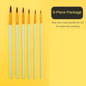 6/7/8pcs set Multifunction Gouache brush watercolor paint brush line pen art life brush acrylic oil paint pen 3 colors available