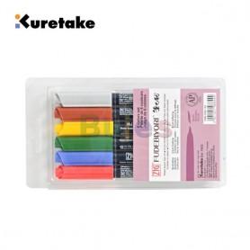 Kuretake ZIG FUDEBIYORI 6/12/24/48 colors set,Odourless,Flexible Hard brush tip, Effective for both details and larger spaces, H