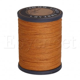 0.55mm Dia Orange Flax Waxed Linen Craft Sewing Stitching Thread Cord, Home