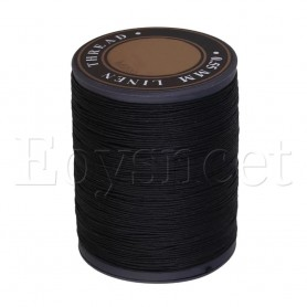0.55mm Dia Black Flax Waxed Linen Craft Sewing Stitching Thread Cord, Home