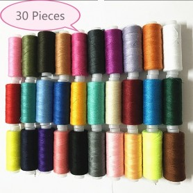 WKXFJJWZC 30pcs Assorted Color Polyester Sewing Thread Spool 250 Yards Each, Home