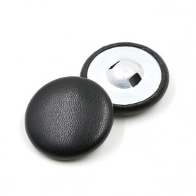 SINUAN Leather Button Covered Button Round Black Buttons Shank Decorative Buttons 100Pcs Sewing Craft Clothing Accessories, Home