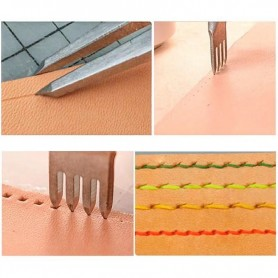 3/4/5/6mm leather Spacing Punch Tool Hole Punches Tool Lacing Stitching Sewing DIY Leather Craft Tools 1/2/4/6 Prong Chisel, Hom