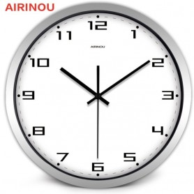 Airinou Classical Brief Number Living Room Office Coffee Shop Quality Wall clock, Watch 10, 12, 14inch 3color, Home
